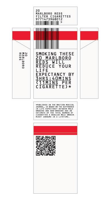 ¿Una bonita cajetilla de tabaco o campaña anticancer?