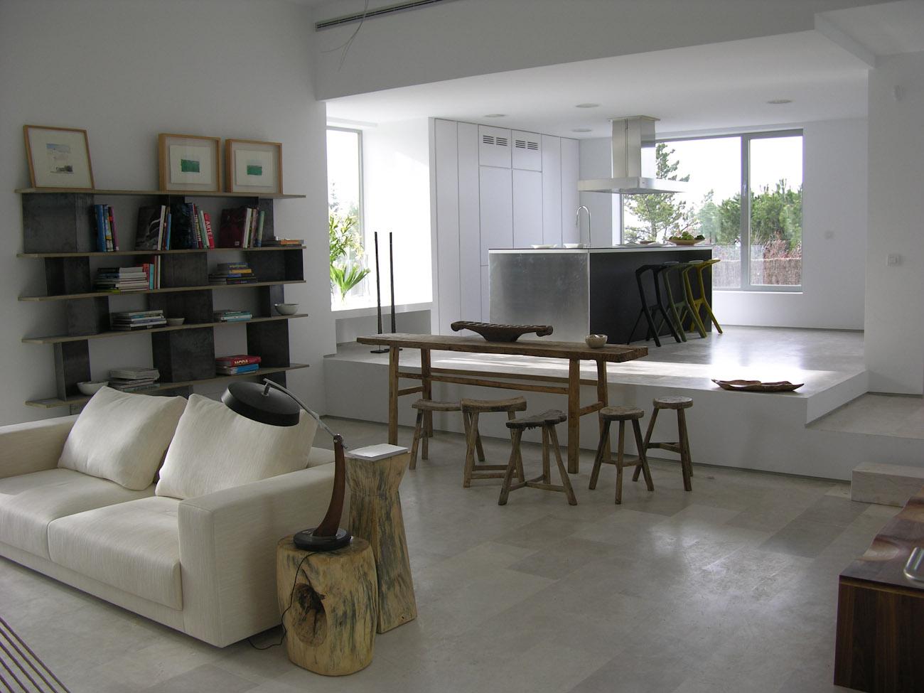 salón de una casa ÁBATON proyecto decoración BATAVIA