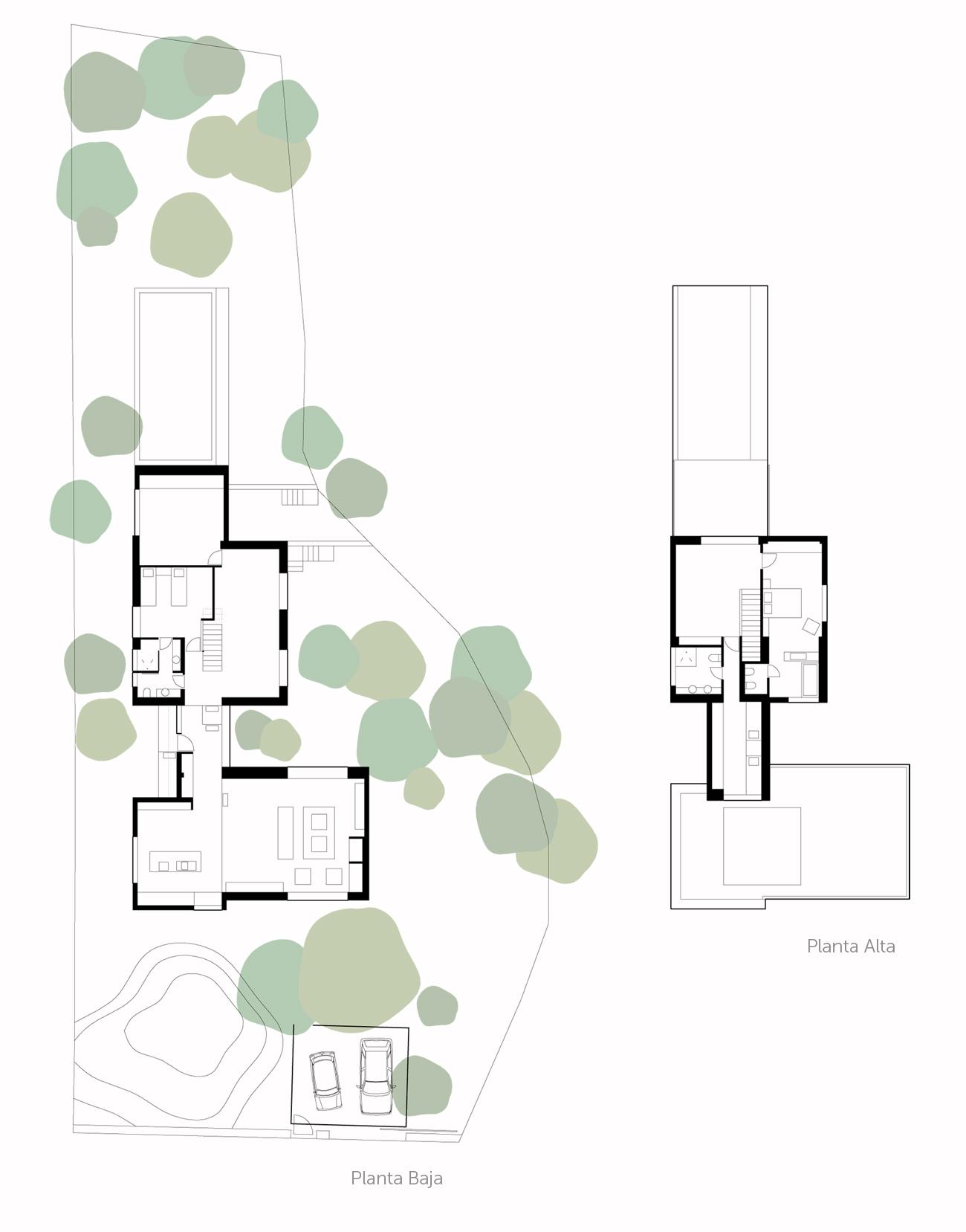Plantas casa del pico por estudio ÁBATON