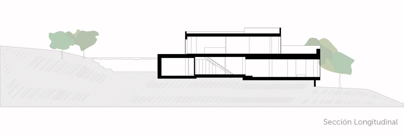 sección longitudinal casa del pico