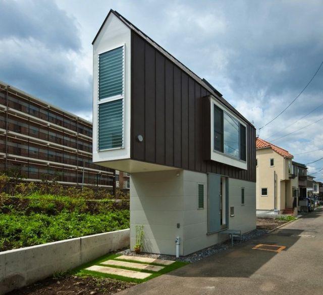 un japonés transforma un terreno minúsculo en una casa