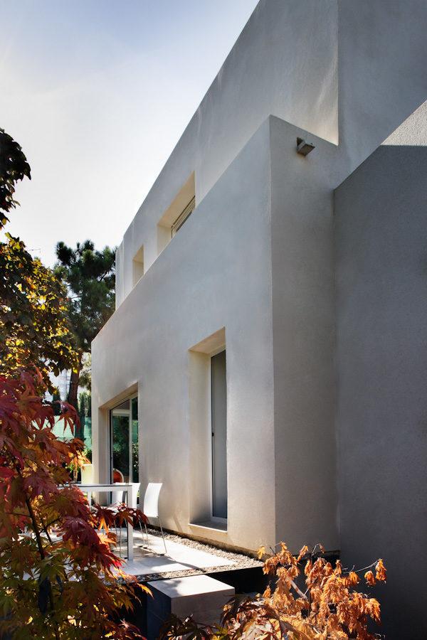 Vista de una fachada lateral