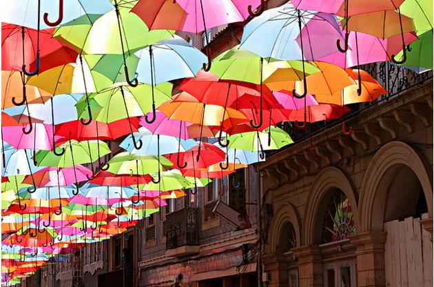 Paraguas en verano