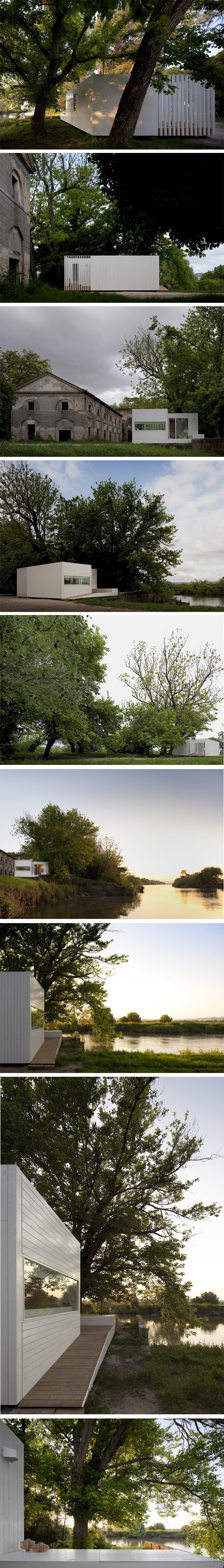 Exterior de la treehouse en Portugal