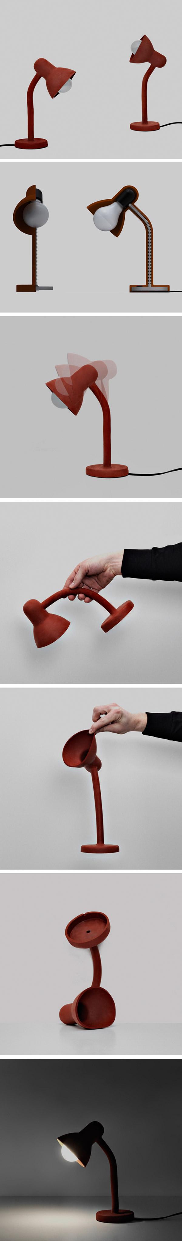 Rubber-lamp