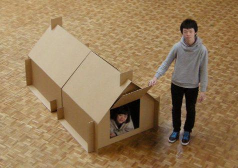 Refugios temporales de cartón