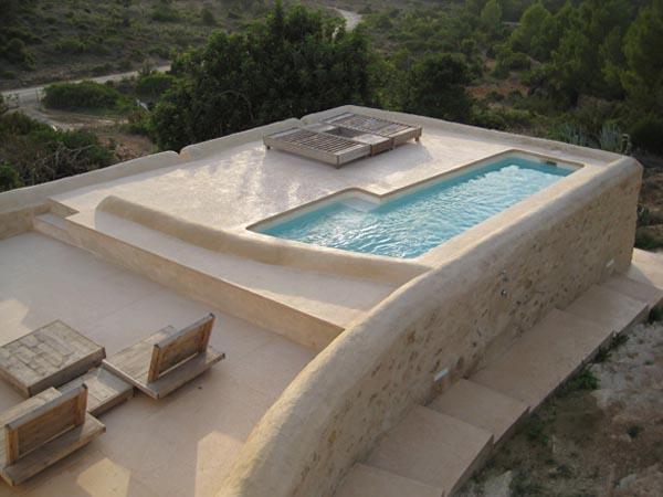 proyecto- casa -en- Ibiza-Nan-i marquina_vista de la piscina