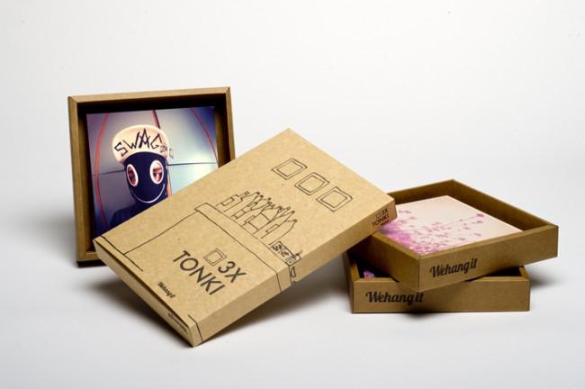 TONKI, marcos de cartón.