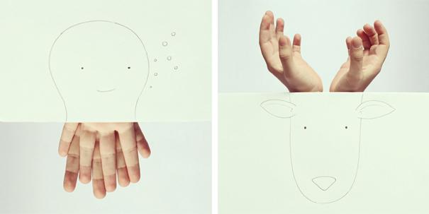 Ilustraciones con manos