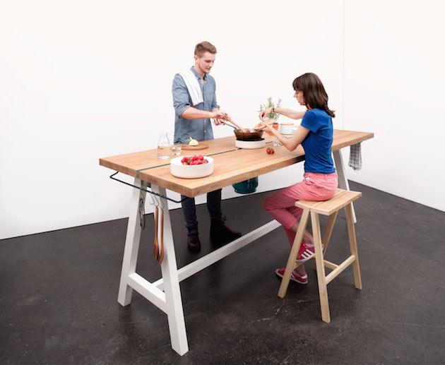 Mesa de cocina versátil