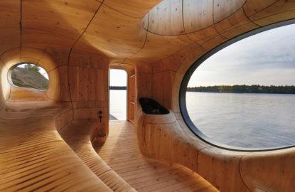 """""""Grotto"""" una sauna a la orilla del lago"""