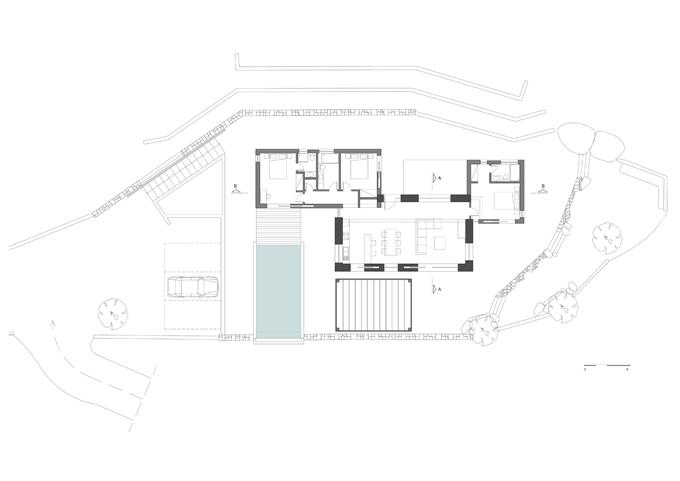 Villa Melana en despiertaymira. Obra de Valia Foufa y Panagiotis Papassotiriou   plan level-0