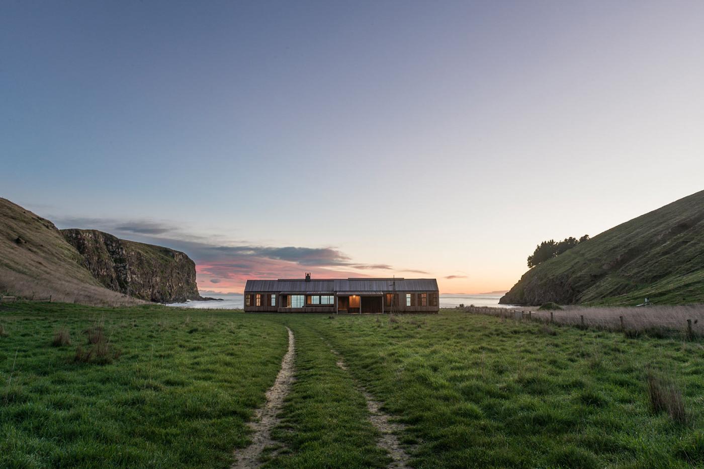 Una granja con vistas al mar. Nueva Zelanda