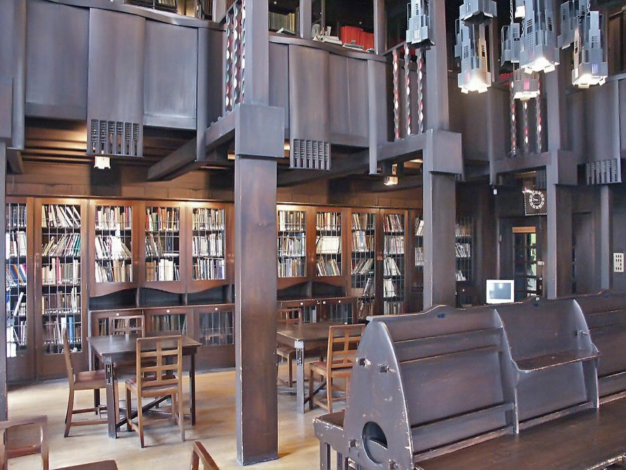 Rennie+Mackintosh+Library Glasgow+School+of+Art