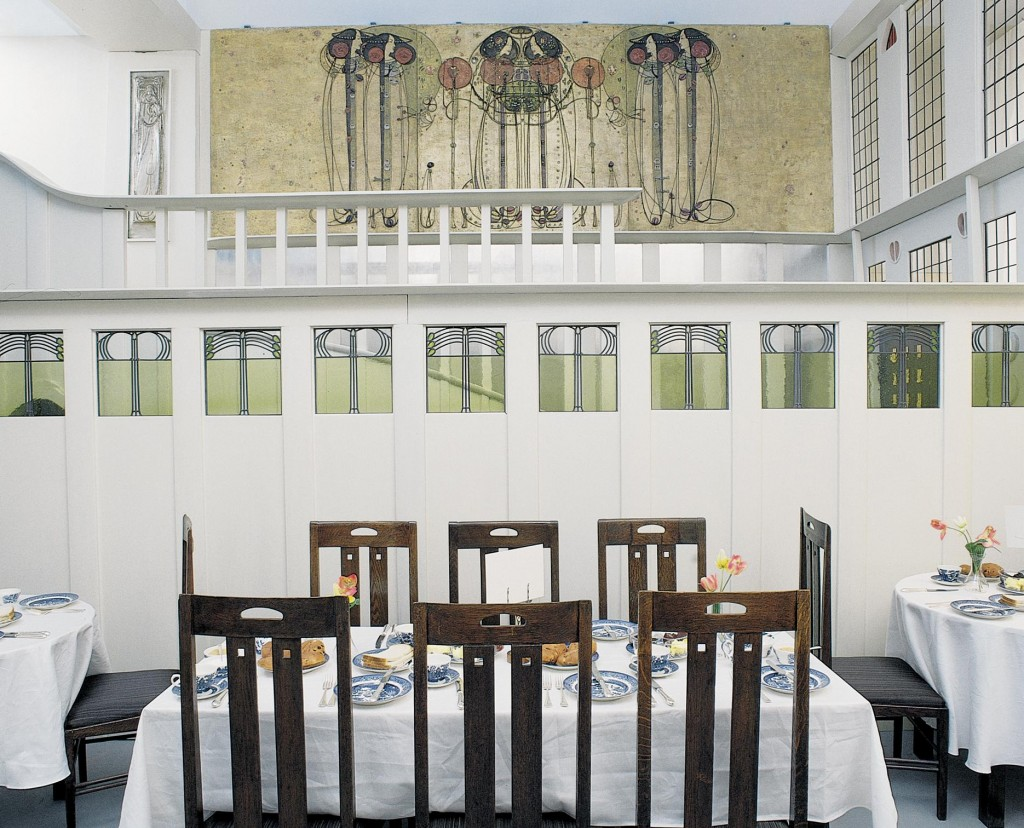 mackintosh-and-mackintosh_luncheon-room Ingram Reconstructed (1992-1995) in the Glasgow Art Galleries and Museum, Glasgow.