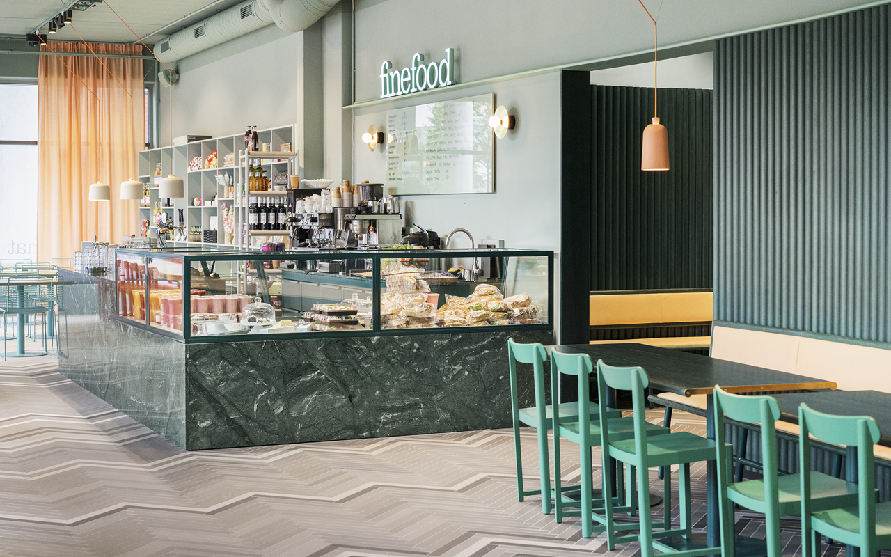 Pinceladas desérticas para activar un restaurante en Estocolmo