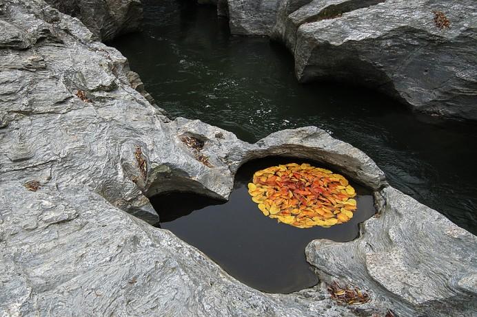 escultura de hojas Zen de Martin Hill