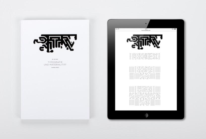 Detalle de la tipografía BTW en tablet