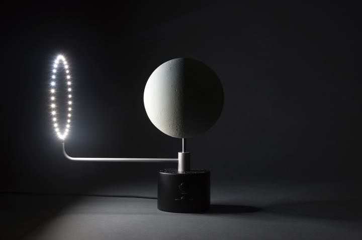 imagen del anillo led que simula el sol. Proyecto Moon.