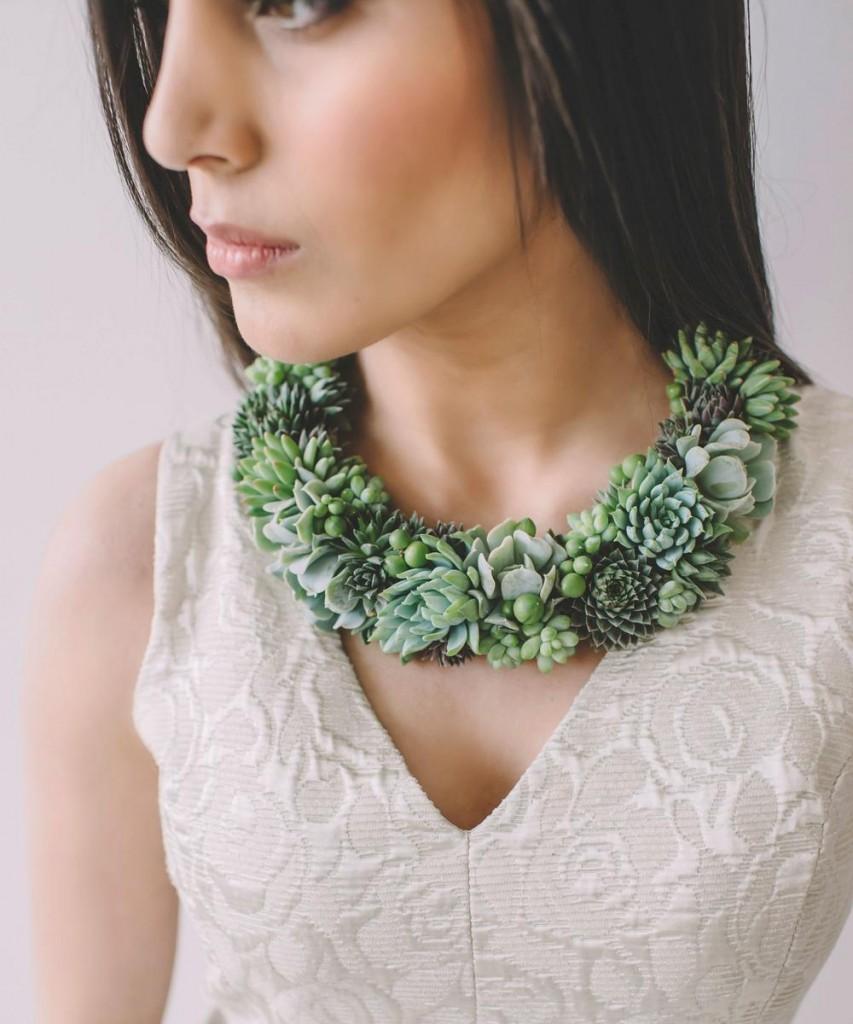 collar de plantas vivas linving jewelry