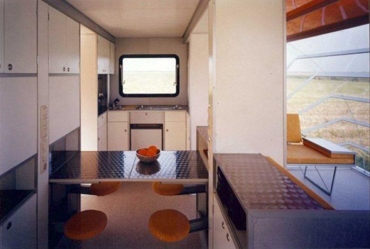 Detalle del interior de la caravana De Markies