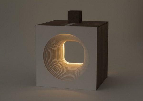 imagen de la lámpara circular encendida
