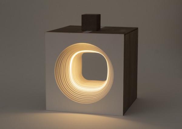 detalle de la lámpara pata rei light cube