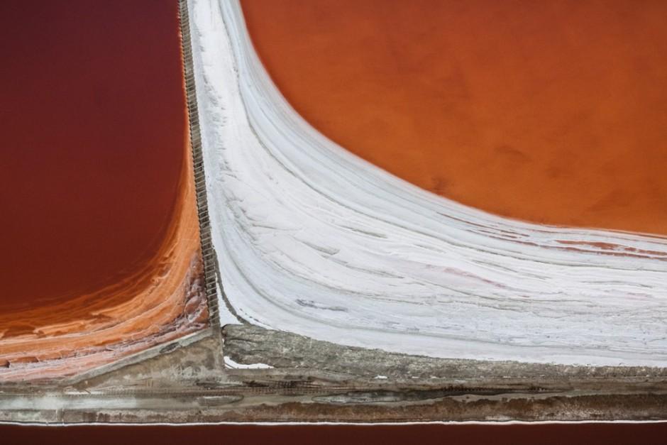 Detalle de los rojos y naranjas sobre la bahía de san francisco