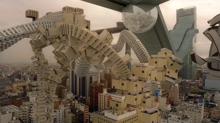 composiciones de edificios imposibles que ofrecen una realidad distorsionada