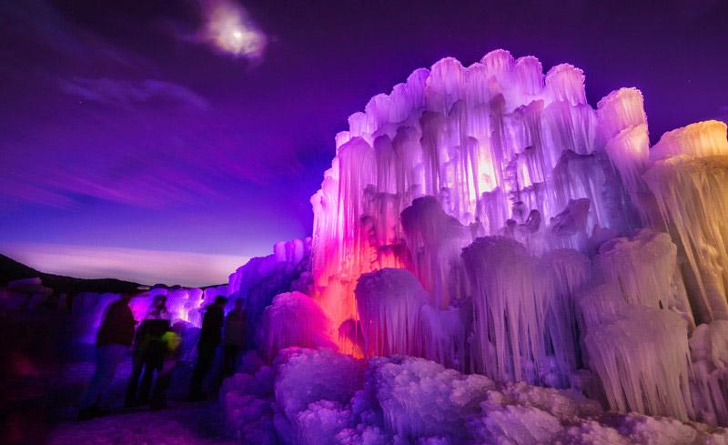 Detalle castillo de hielo realizado totalmente a mano