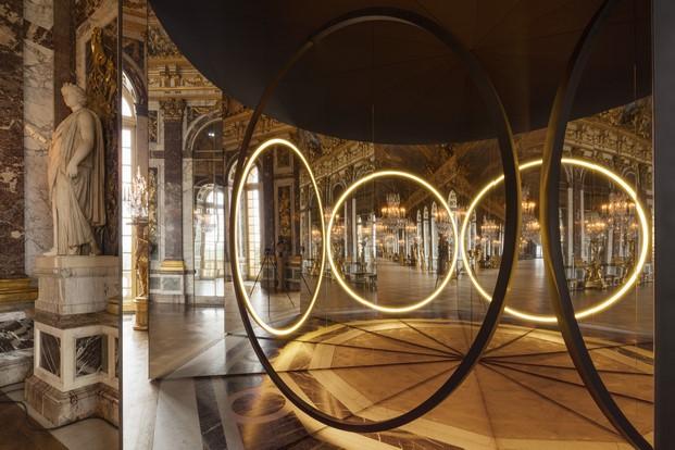Detalle del montaje Your sense of unity en la Galería de los Espejos