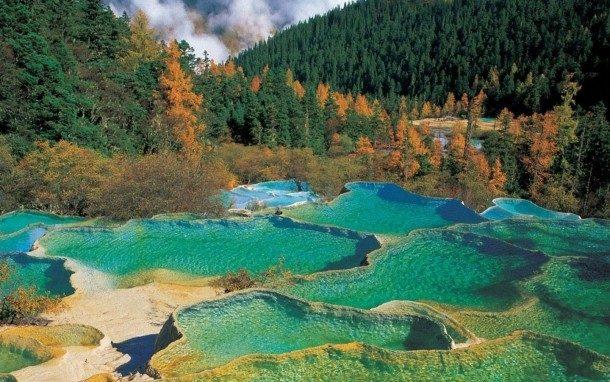 Valle de Jiuzhaigou, China