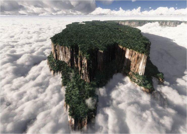 Monte Roraima, una meseta de arenisca de 2.810 metros de altura