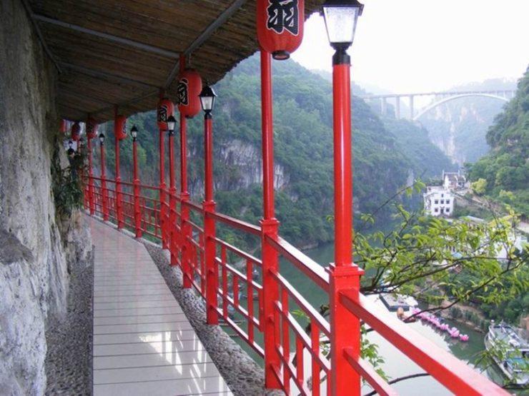 Restaurante Fangweng con vistas al río Yangtsé