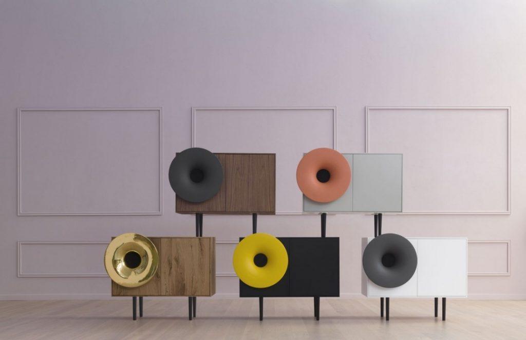 Aparador musical Caruso del diseñador italiano Paolo Cappello