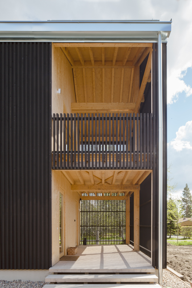 House H, diseñada por el finlandés Teemu Hirvilammi. Imagen exterior