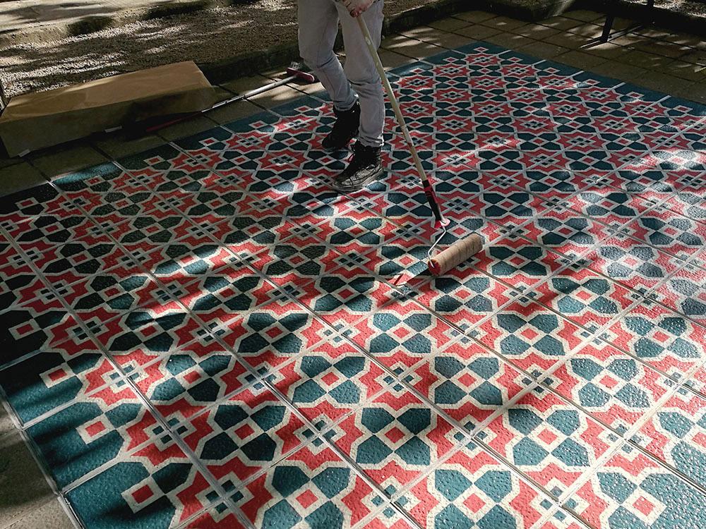 Detalle del proyecto Floor homenaje a la baldosa tradicional catalana