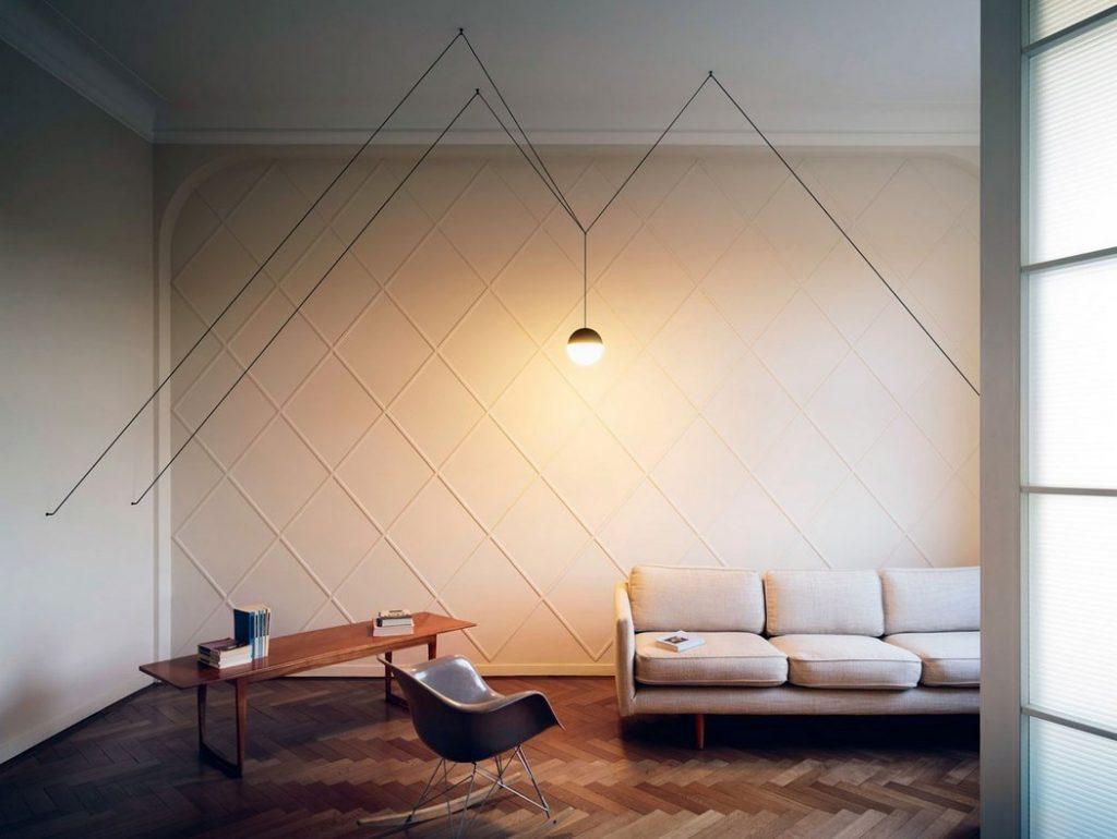 Pieza de la colección minimalista String Lights de Michael Anastassiades
