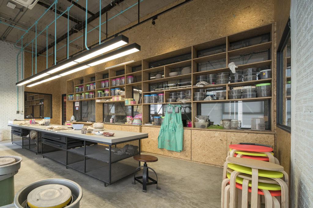 sala de ceramica del centro de coworking hubba-to