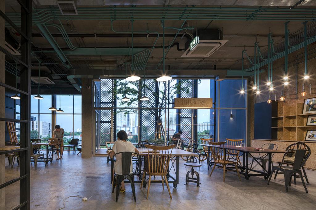 zona de terra del centro de coworking