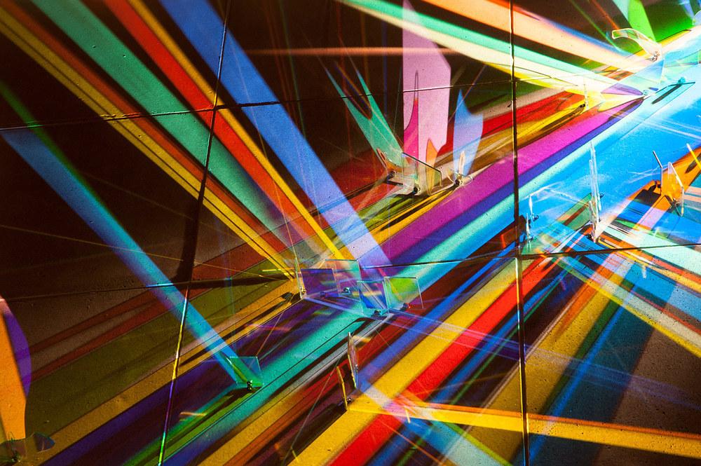 Detalle de la obra un híbrido entre pintura y escultura