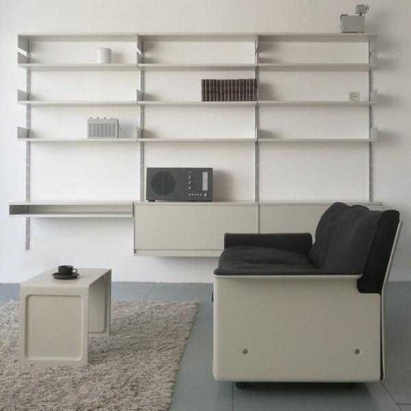 Estantería, silla y radio diseñadas por dieter rams
