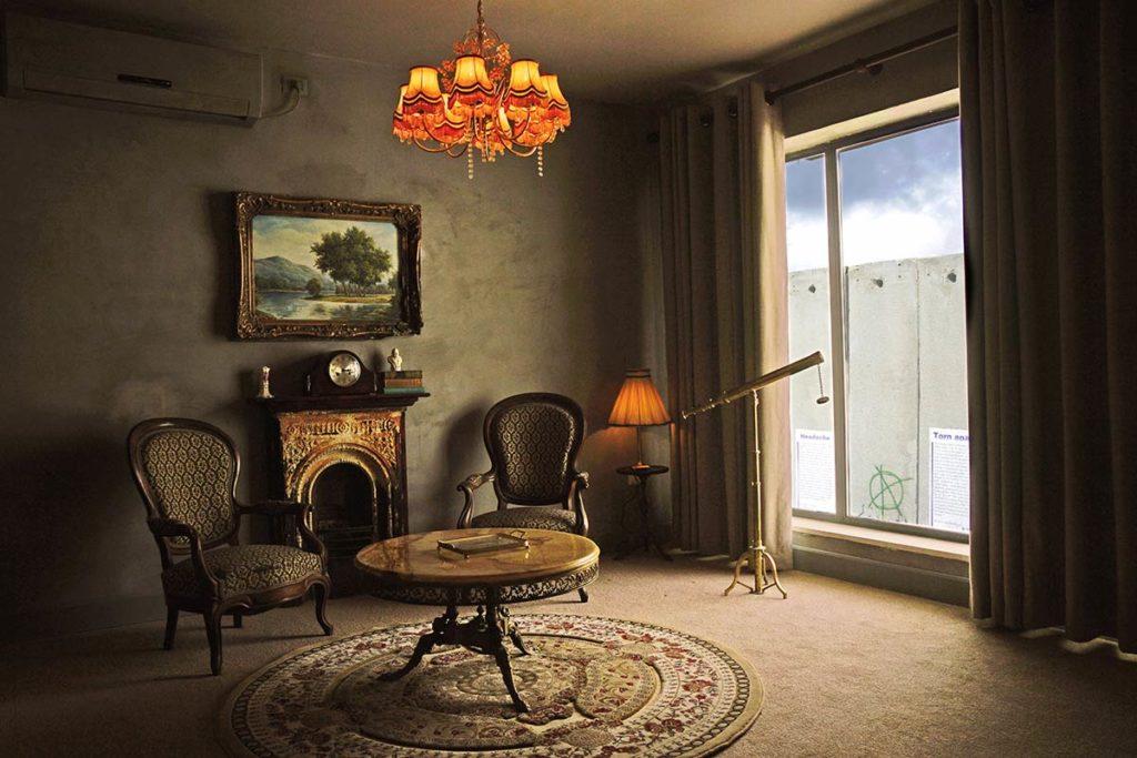 habitación con vistas al muro