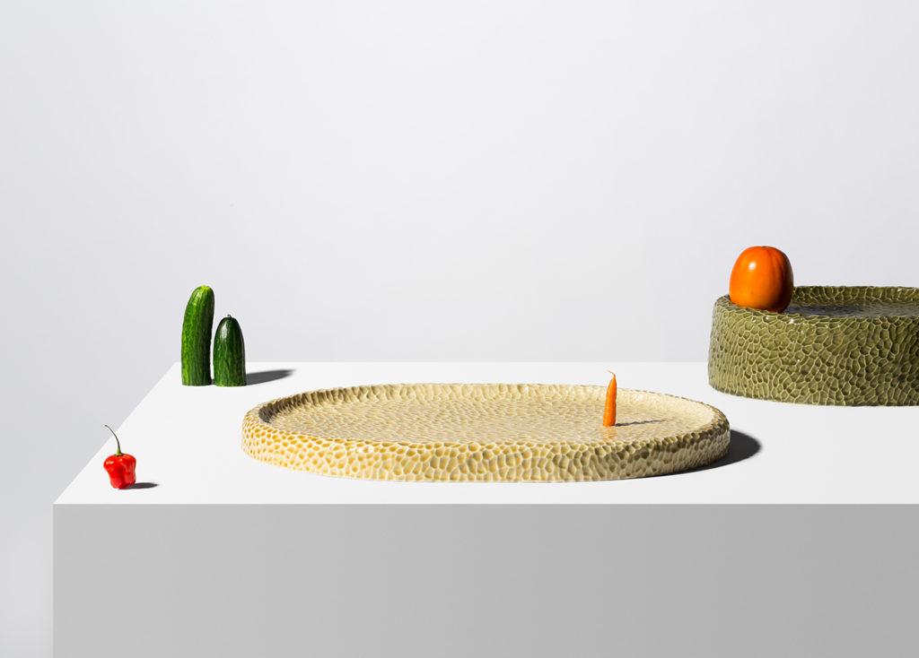 detalle de las texturas de la colección en cerámica