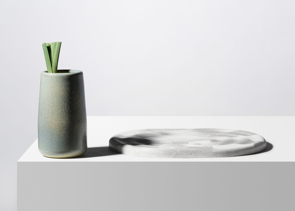 detalle de jarron en cerámica de Dimitri Bähler