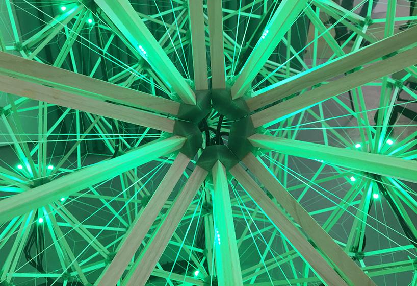 Detalle lámpara green light