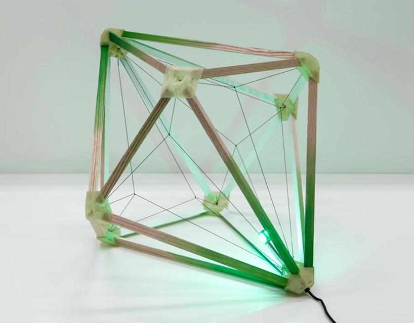Lámpara de luz verde finalizada