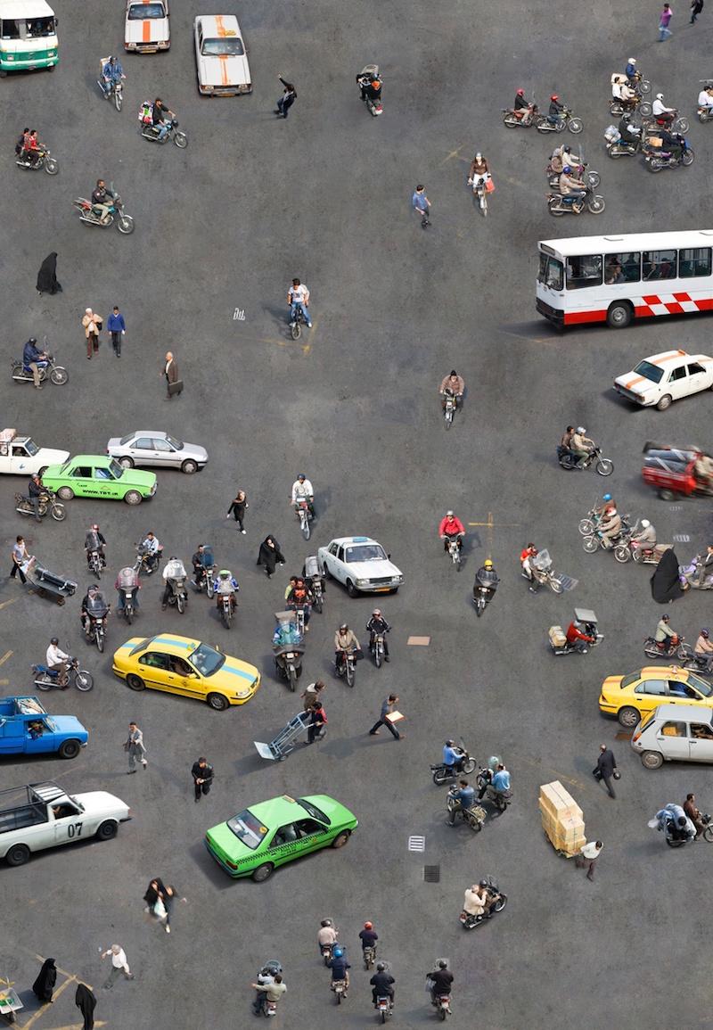 Fotografía de Katrin Korfmann en alguna ciudad árabe