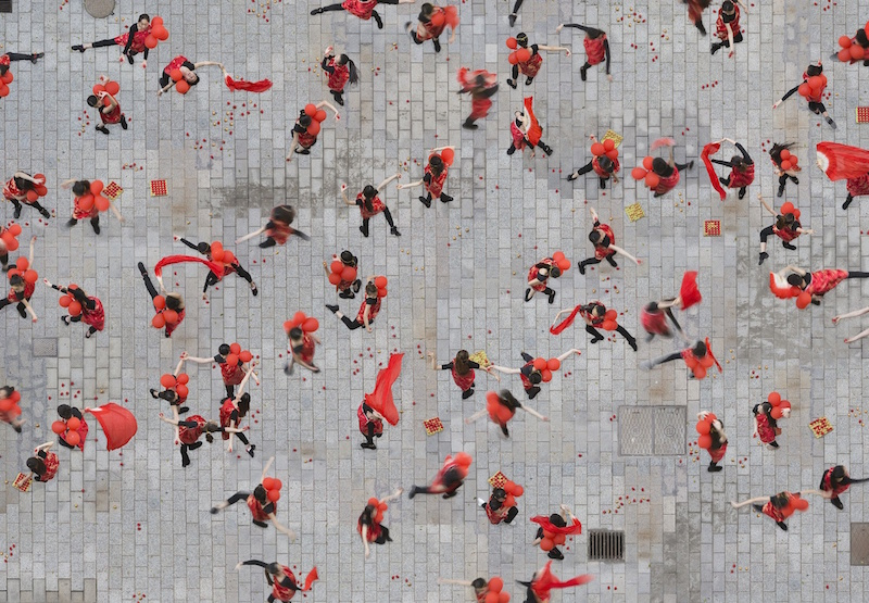 Katrin Korfmann retrata nuestro espíritu gregario en sus fotografías aéreas