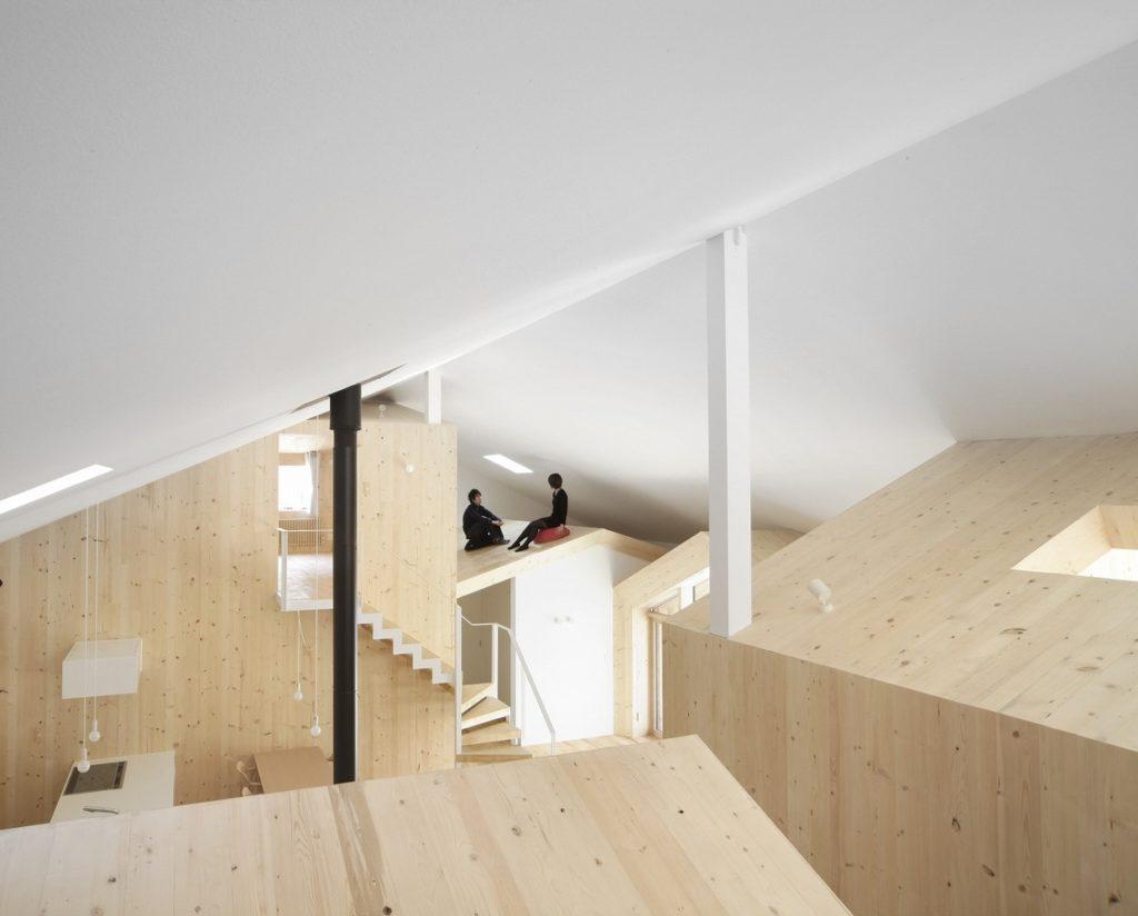 House K, diseñada en 2009 por el arquitecto Yoshichika Takagi. Espacio aislado